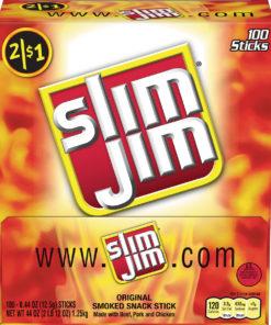 Slim Jim smoked meat sticks original .44 oz. 100-count