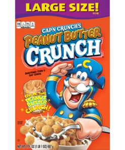Cap'n Crunch Breakfast Cereal, Peanut Butter Crunch, 17.1 oz Box