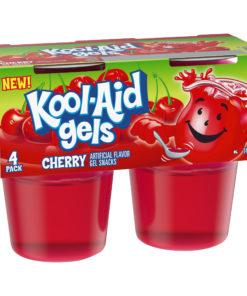 Jell-o Kool-Aid Gels Cherry, 3.5 oz, 4 Count