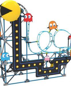K'NEX PAC-MAN Roller Coaster Building Set – 432 Parts – Roller Coaster Building Toy