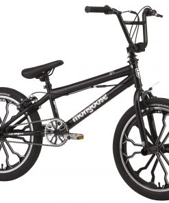 Mongoose Rebel kids BMX bike, 20-inch mag wheels, ages 7 – 13, black