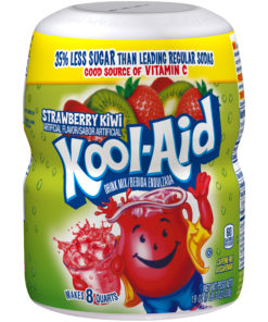 (2 Pack) Kool-Aid Sweetened Strawberry Kiwi Powdered Drink Mix, Caffeine Free, 19 oz Jar