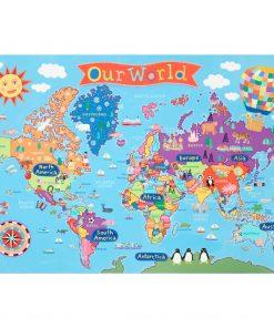 Round World Products – Kid's World 48 Piece Floor Puzzle