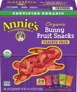 Annie's Organic Bunny Fruit Snacks, Variety Pack, 24 ct, 0.8 oz