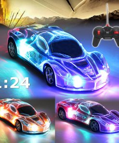 1/24 RC Car High Speed Remote Control Toys RC Racing Car Roadster Sports Auto Light Up Car Play Vehicles with 3D Light 2403A With Aerial/Indicator Light RC For Kids, Boys & Girls