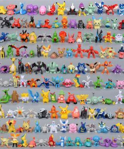 48 Pcs Anime Figure Mini Action Figures Monster Toys 2-3 cm for Pokemon Game Player, Kid's Great Gifts