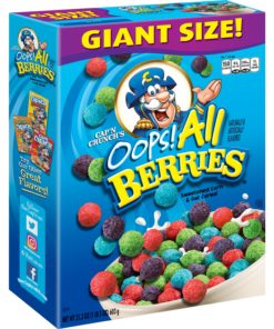 Cap'n Crunch Breakfast Cereal, Oops! All Berries, 21.3 oz Box
