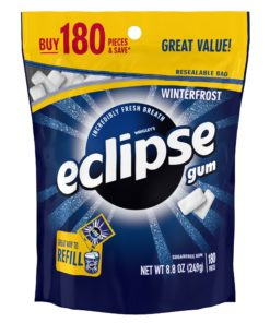 Eclipse Gum, Winterfrost, Sugar Free, 180 Piece Bag