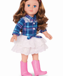 My Life As 18″ Poseable Cowgirl Doll, Brunette Hair