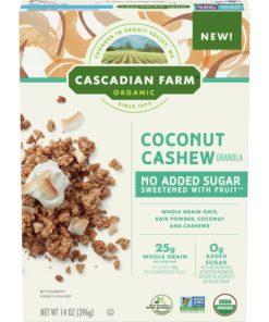 Cascadian Farm, Granola, Organic, Coconut Cashew, No Added Sugar, 13 oz
