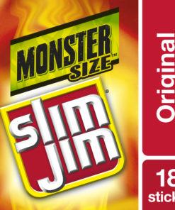 Slim Jim Original Monster Smoked Snack Stick Smoked Meat Stick 1.94 Oz 18 Ct