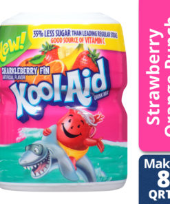 (2 Pack) Kool-Aid Sweetened Sharkleberry Fin Powdered Drink Mix, Caffeine Free, 19 oz Jar