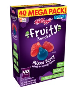 Kellogg's Fruit Snacks, Mixed Berry, 40 ct, 0.8 oz