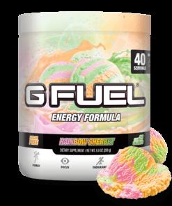G Fuel Elite Energy and Endurance Powder Tub, Rainbow Sherbet, 40 Servings