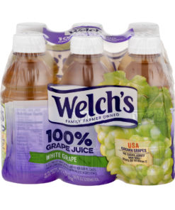 (4 Pack) Welch's 100% Juice, White Grape, 10 Fl Oz, 6 Count