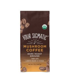 Four Sigmatic Mushroom Ground Coffee Mix, Dark Roast, 12 Ounce Bag