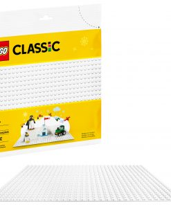LEGO Classic White Baseplate 11010 Creative Toy for Open-Ended Imaginative Play
