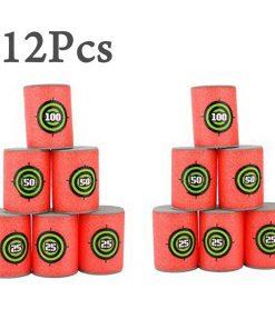 12pcs Soft Foam Target Cans for Guns Games