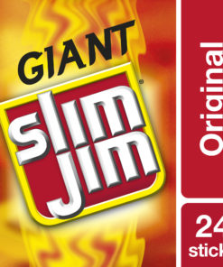 Slim Jim Giant Smoked Meat Sticks Original Flavor 0.97 oz. 24-Count