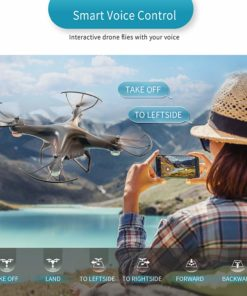 SNAPTAIN SP600 WiFi FPV Drone with 720P HD Camera for Adults/Beginners, Voice Control RC Quadcopter with Altitude Hold, Headless Mode, Gravity Control, One Key Take Off/Landing 3D Flips Drone