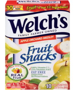(Price/case)Welch's 10034856910890 Fruit Snacks Apple Orchard Medley 8-10-.9 Ounce