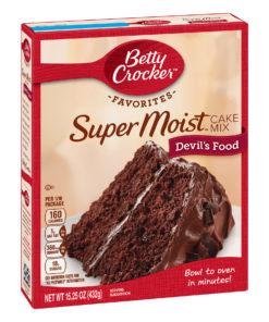 (2 pack) Betty Crocker Super Moist Devil's Food Cake Mix, 15.25 oz