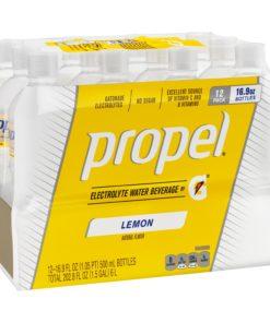 Propel Electrolyte Water, Lemon,16.9 oz Bottles, 12 Count