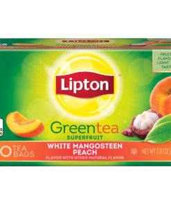 (4 Boxes) Lipton White Mangosteen Peach Green Tea Bags 20 ct