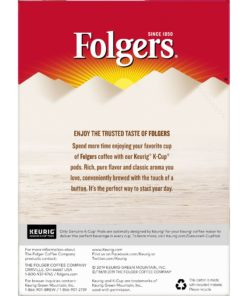 Folgers Caramel Drizzle K-Cup Coffee Pods, 24 Count For Keurig and K-Cup Compatible Brewers