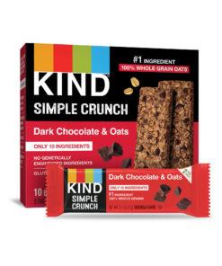 KIND Simple Crunch Granola Bars, Oats & Dark Chocolate, Gluten Free, 1.4oz, 5 Count