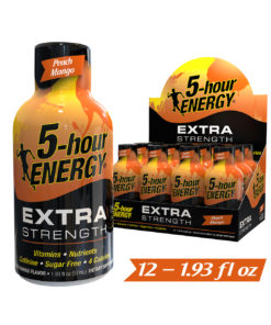 (12 Count) 5-hour ENERGY® Shot, Extra Strength, Peach Mango, 1.93 oz