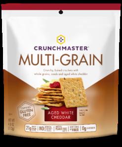 Crunch Master Crackers, White Cheddar, 4 oz