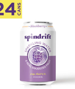 Spindrift Blackberry Sparkling Water, 12 Fl. Oz. Cans (Pack of 24)
