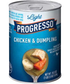 (4 pack) Progresso Light Chicken and Dumpling Soup, 18.5 oz