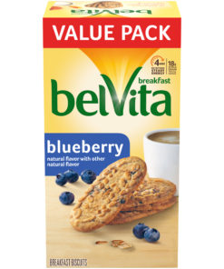 belVita Blueberry Breakfast Biscuits, 12 Packs (4 Biscuits Per Pack)