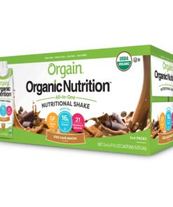 Orgain Organic Nutrition Shake, Iced Cafe Mocha, 16g Protein, 12 Ct