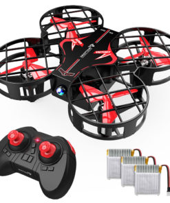 SNAPTAIN H823H Plus Portable Mini Drone for Kids, Pocket RC Quadcopter With 3 Batteries, 21 Mins Flight Time, One Key Take Off Landing