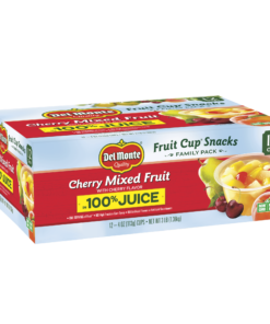 (12 Cups) Del Monte Fruit Cup Snacks Cherry Mixed Fruit, 4 oz cups