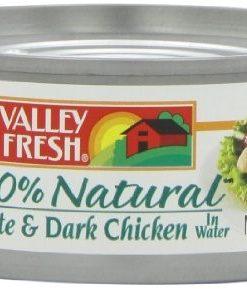 (4 Pack) Valley Fresh Natural White & Dark Chicken in Water, 5 oz Can