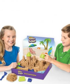 Kinetic Sand Beach Sand Kingdom Playset with 3lbs of Beach Sand, for Ages 3 and Up