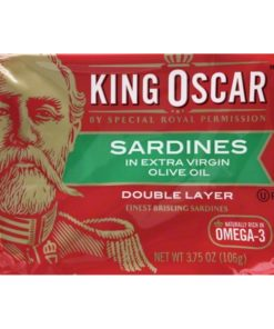 (2 Pack) King Oscar Wild Caught Sardines in Olive Oil, 3.75 oz