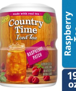 (2 Pack) Country Time Sugar-Sweetened Raspberry Tea Powdered Soft Drink, 19 oz Tray