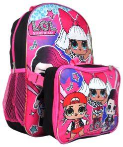Girls LOL Surprise! M.C. Swag Diva Rocker Backpack 16″ w/ Detachable Lunch Bag