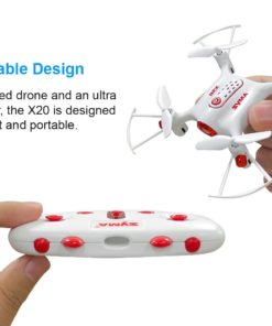Tenergy Syma X20 Mini Drone, Headless Quadcopter RC Drone with Altitude Hold and Stunt Button, Easy to Fly Pocket Drone for Beginner (White)