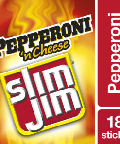 Slim Jim beef and cheese stick pepperoni n cheese 1.5 oz. 18-count