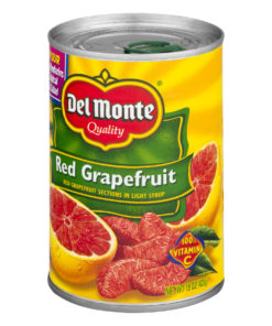 (3 Pack) Del Monte Red Grapefruit in Light Syrup, 15.0 OZ