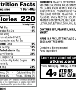 Atkins Protein-Rich Meal Bar, Peanut Butter Granola, Keto Friendly, 5 Count