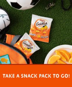 Pepperidge Farm Goldfish Cheddar Crackers, Multi-pack Box, 30-count 1 oz. Snack Packs
