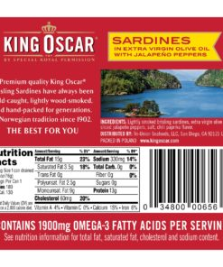 (2 Pack) King Oscar Two Layer Sardines & Jalapeno in Olive Oil, 3.75 oz