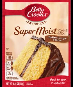 (2 pack) Betty Crocker Super Moist Butter Recipe Yellow Cake Mix, 15.25 oz